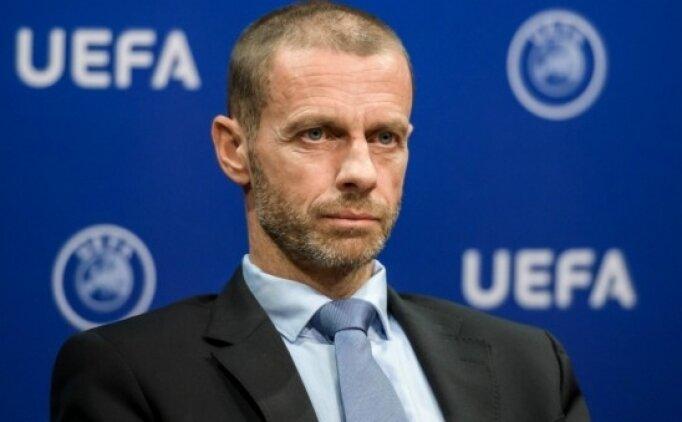 UEFA Başkanı Ceferin'den tarihi karar!