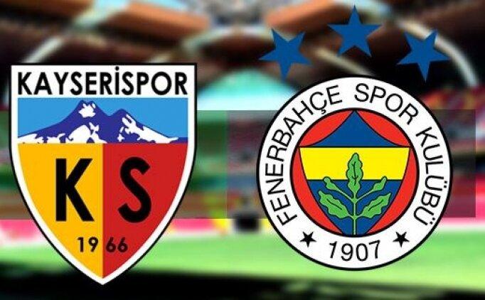 Kayserispor Fenerbahçe maçı hangi kanalda? Kayserispor Fenerbahçe maçı saat kaçta?