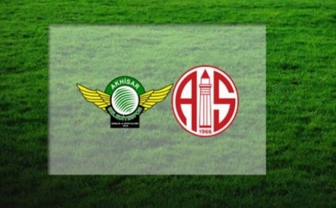 Akhisarspor Antalyaspor maçı canlı hangi kanalda? Akhisarspor Antalyaspor saat kaçta?