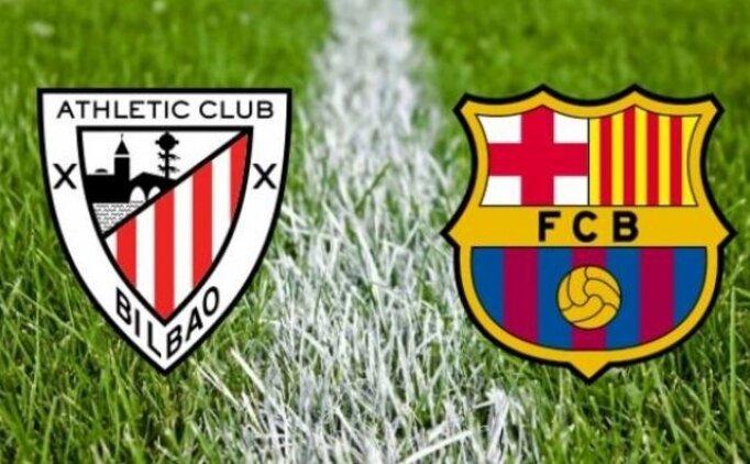 Athletic Bilbao Barcelona maçı canlı hangi kanalda? Athletic Bilbao Barcelona maçı saat kaçta?