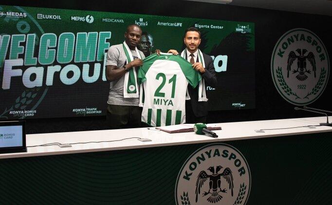 Konyaspor, Farouk Miya'yı resmen açıkladı!