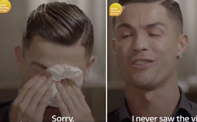 Cristiano Ronaldo hüngür hüngür ağladı!