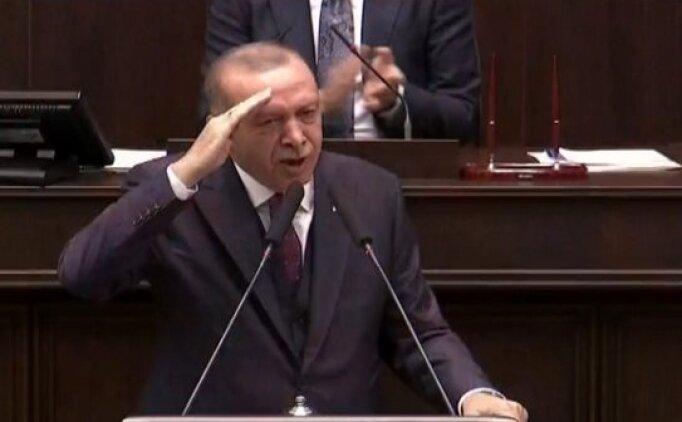Recep Tayyip Erdoğan'dan asker selamı tepkisi