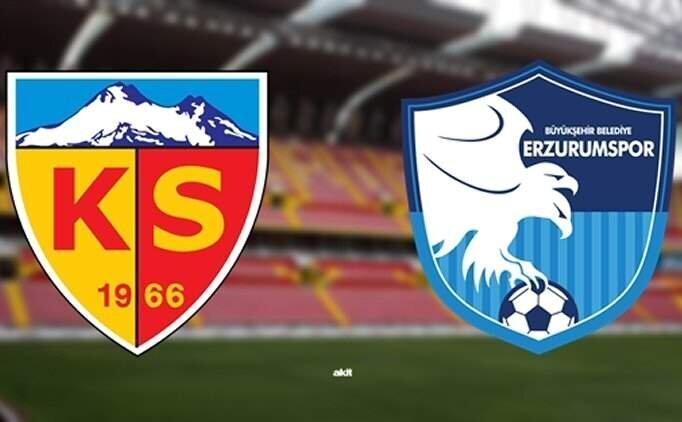 Kayserispor Erzurumspor maçı özet ve golleri izle
