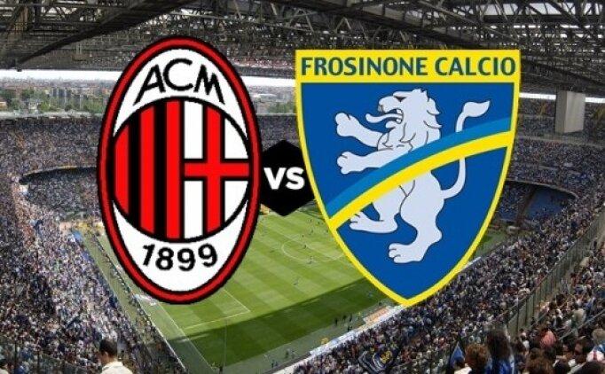 Milan Frosinone maçı canlı hangi kanalda? Milan Frosinone saat kaçta?