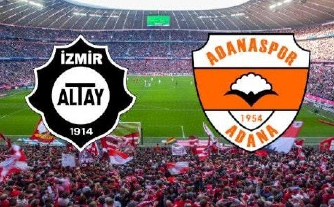 Adanaspor Altay maçı canlı hangi kanalda? Adanaspor Altay maçı saat kaçta?