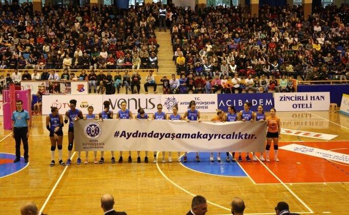 Aydın Büyükşehir Belediyespor yarı final için sahada