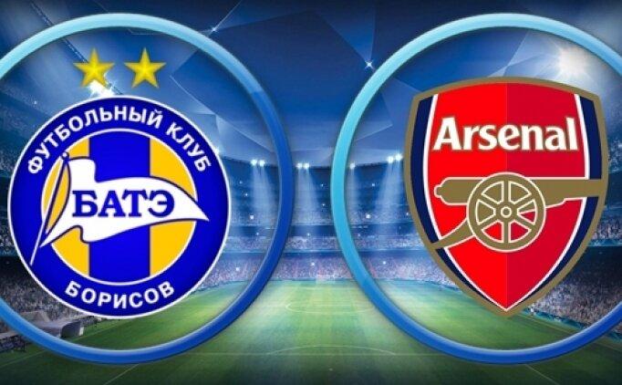 BATE Borisov Arsenal maçı canlı hangi kanalda? BATE Borisov Arsenal maçı saat kaçta?