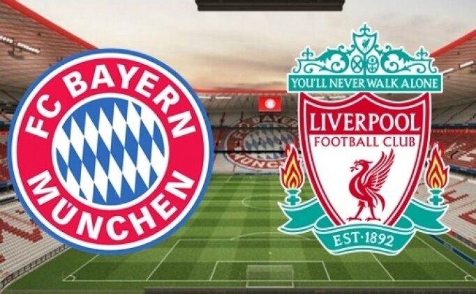 Bayern Münih Liverpool canlı hangi kanalda? Bayern Münih Liverpool maçı saat kaçta?
