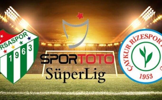 Bursaspor Rizespor maçı canlı hangi kanalda? Bursaspor