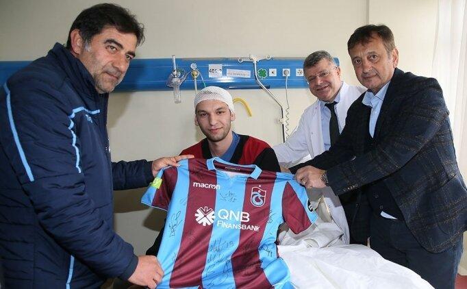 Trabzonspor'dan bina çokmesindeki yaralılara ziyaret