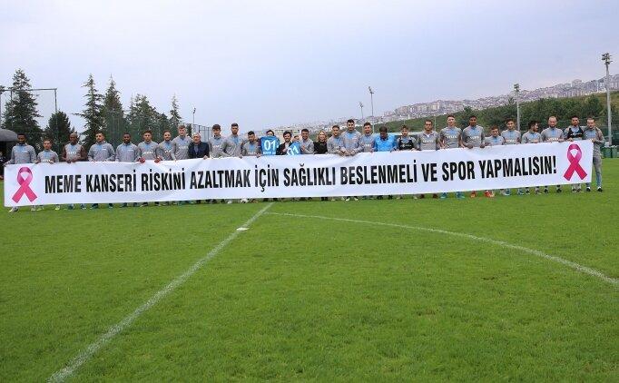 Trabzonspor'dan 'meme kanserinde farkındalık' mesajı