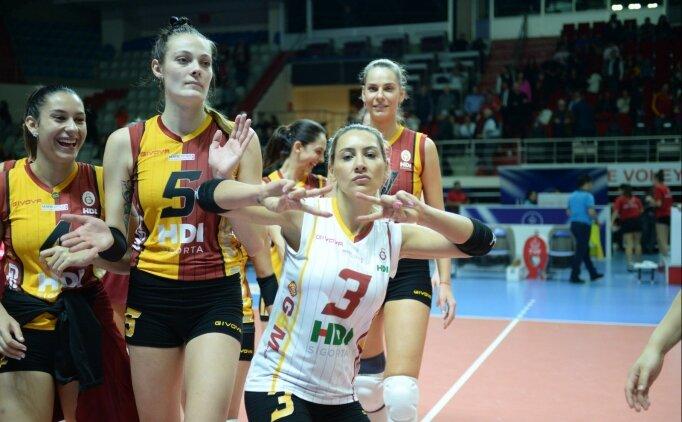 Galatasaray HDI Sigorta, Atlasglobal Yeşilyurt'a set vermedi!
