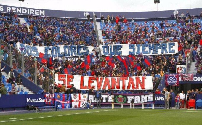 Levante'den taraftarına klas hareket