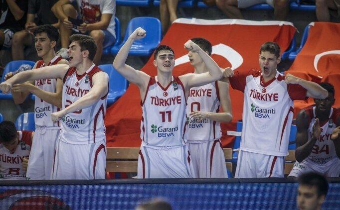 Türkiye U16 Basketbol Milli Takımı çeyrek finalde