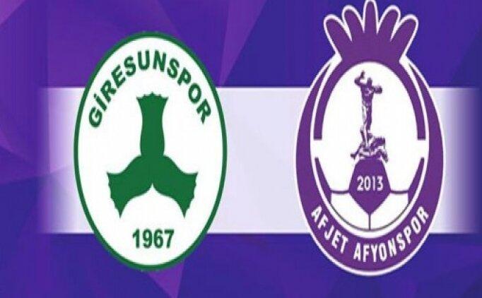 Afjet Afyonspor Giresunspor maçı canlı hangi kanalda? Afjet Afyonspor Giresunspor maçı saat kaçta?