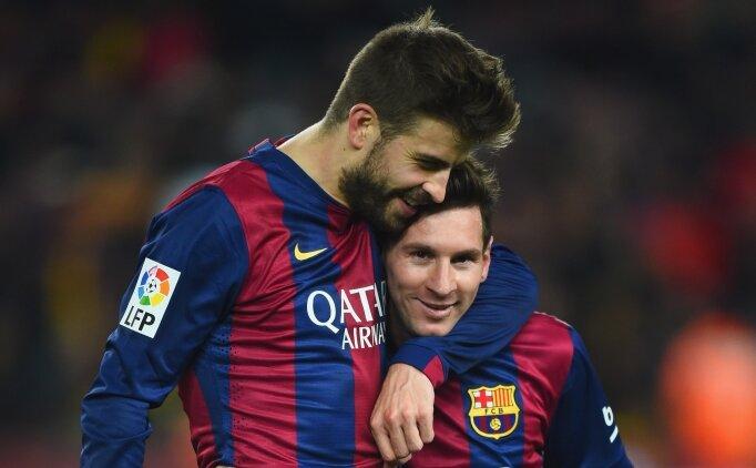 Pique: 'Messi bir çizgi çektiyse geçilmez'