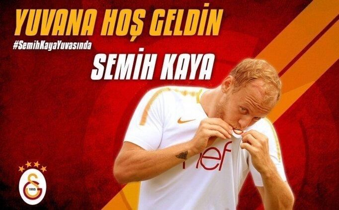 Galatasaray, Semih Kaya transferini açıkladı