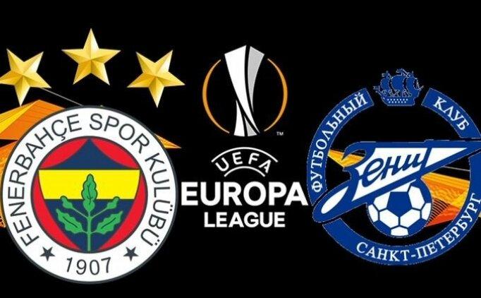 Fenerbahçe Zenit maçı özet ve golleri izle (bein sports)