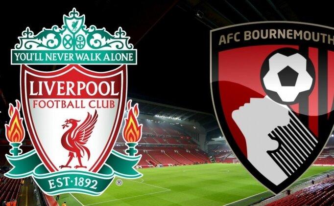 Liverpool Bournemouth maçı canlı hangi kanalda? Liverpool Bournemouth maçı saat kaçta?
