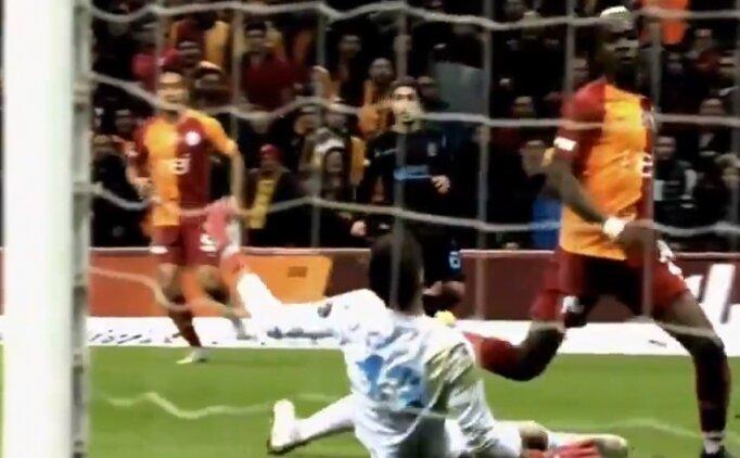 Galatasaray - Trabzonspor maçında tartışmalı pozisyonlar