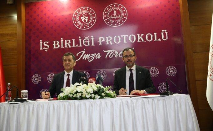 MEB ve Gençlik Spor Bakanlığı arasında protokol!
