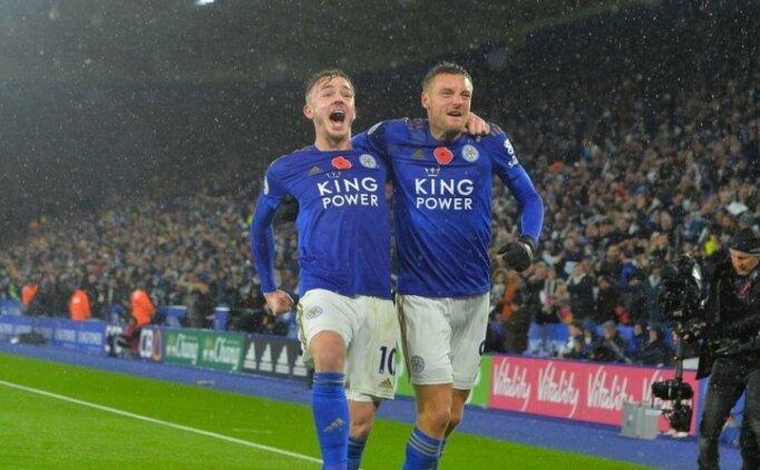 Çağlar yine yıldızlaştı, Leicester Arsenal'i yıktı