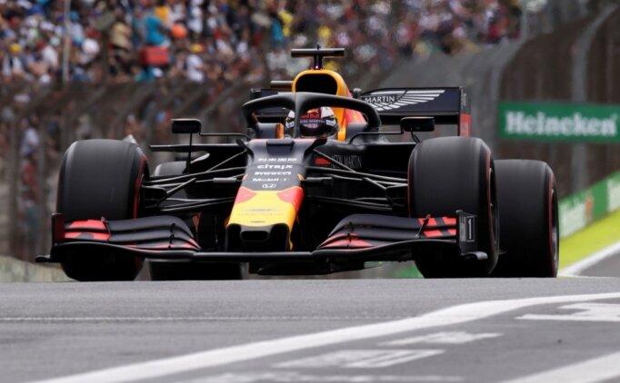 Max Verstappen, Brezilya'da ilk sırada