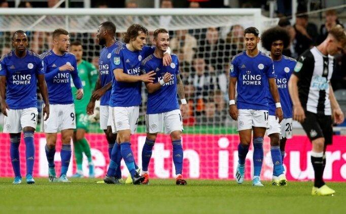 Çağlar'lı Leicester, kupada penaltılarla turladı!