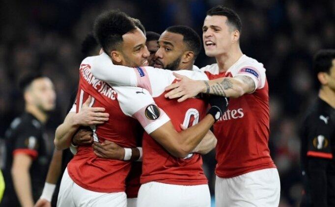 Arsenal, Emirates'te 3 golle geri döndü! Rennes...