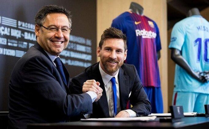 Bartomeu: 'Messi isterse süresiz uzatırız!'