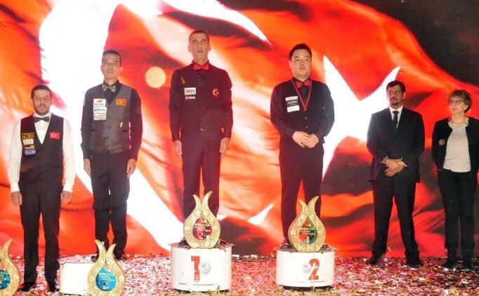 3 Bant Dünya Bilardo Şampiyonası'nda Tayfun Taşdemir birinci oldu