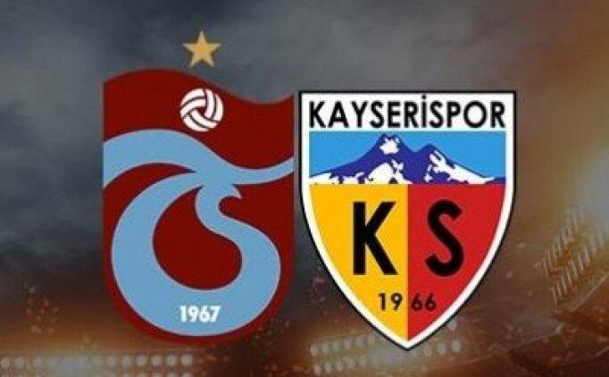 Trabzonspor Kayserispor maçı şifresiz canlı izle (beİN Sports izle)