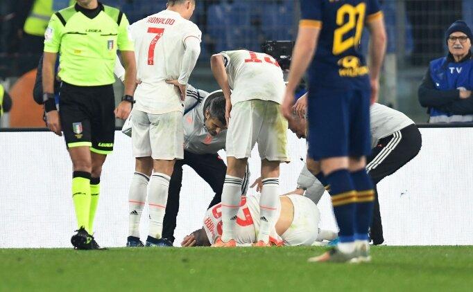 Merih Demiral Roma maçında sakatlandı