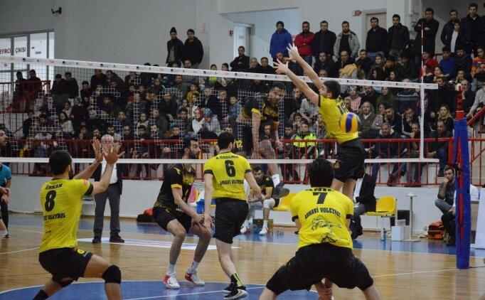 Sorgun Belediyespor, Arhavi Voleybol'u rahat geçti