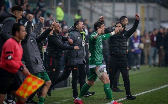 Bursaspor yükselen takımlara karşı kazanıyor