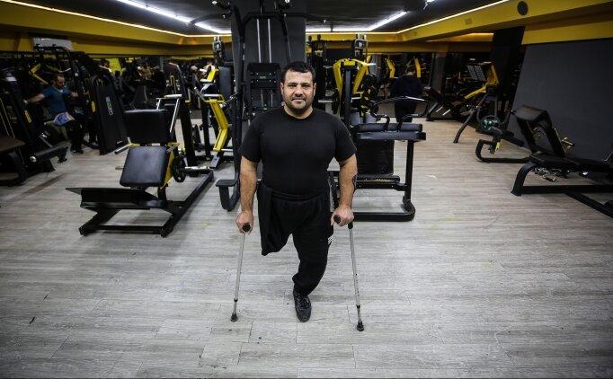 Gazzeli ampute antrenör azmi ve başarısıyla kendisine hayran bırakıyor