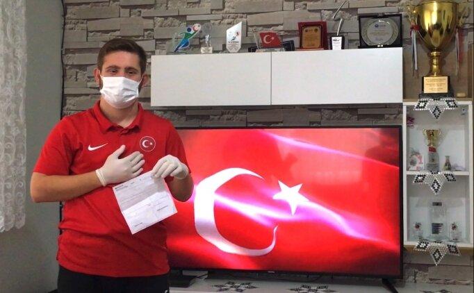 Özel sporcu Topaloğlu'ndan Milli Dayanışma Kampanyası'na destek
