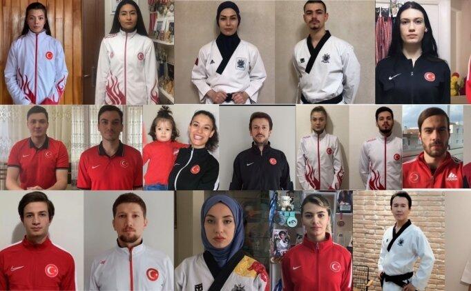 Tekvando Milli Takımı sporcularından 'Evde kal' çağrısı