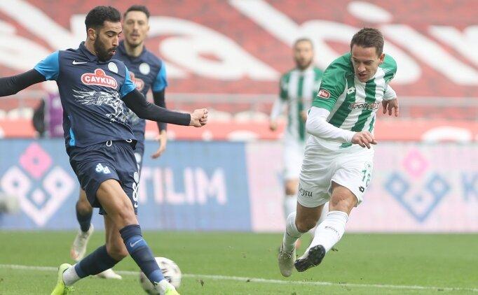 Konyaspor ile Rizespor, yine dengede!