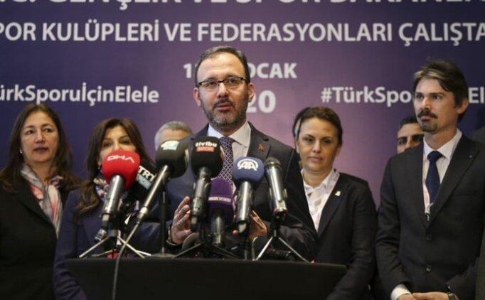Kasapoğlu: 'İnşallah bu çalıştay Türk sporunun geleceği için milat olacaktır'