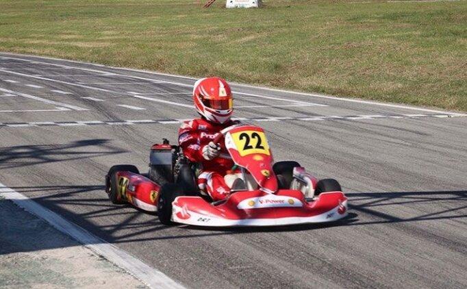 12 yaşındaki milli karting sürücüsü Batı Yıldırım'ın başarısı
