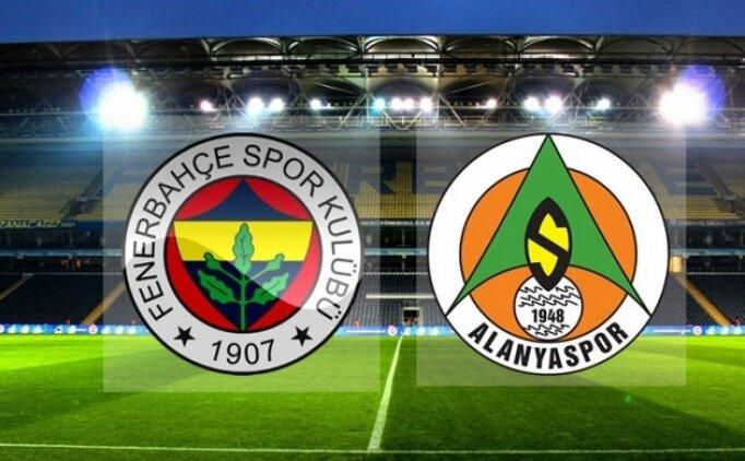 Fenerbahçe Alanyaspor CANLI İZLE şifresiz, FB maçı canlı izle