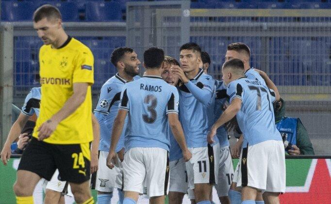 Lazio, Dortmund'u 3 golle yıktı! Vedat Muriqi...