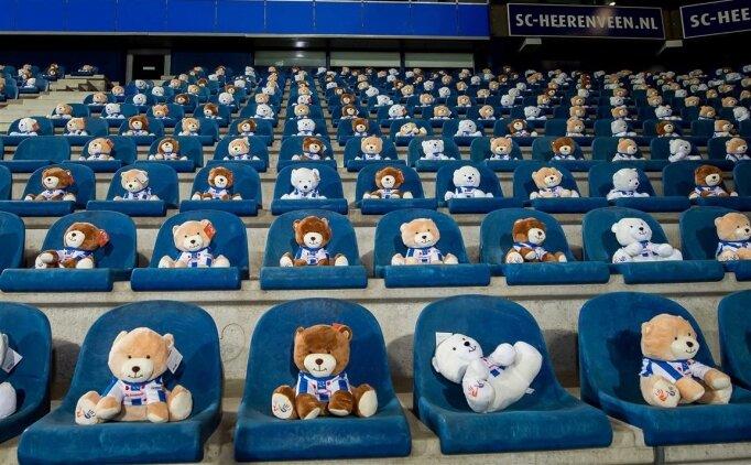 Tribünde 15 bin peluş oyuncak satıldı