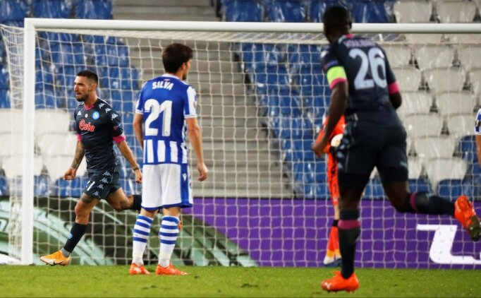 Napoli Sociedad deplasmanından 3 puan çıkardı