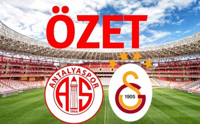 Antalyaspor 2-2 Galatasaray maçı geniş özeti izle