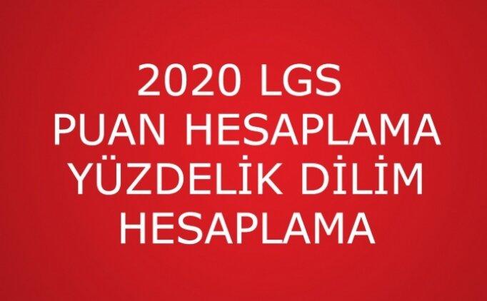 LGS yüzdelik dilim hesaplama, 2020 yüzdelik dilim nasıl hesaplanır anlatımı