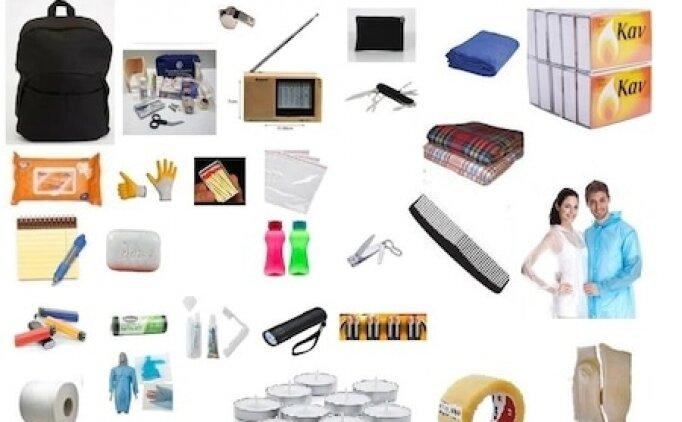 Deprem çantasında olması gerekenler, deprem çantası için gerekli malzemeler