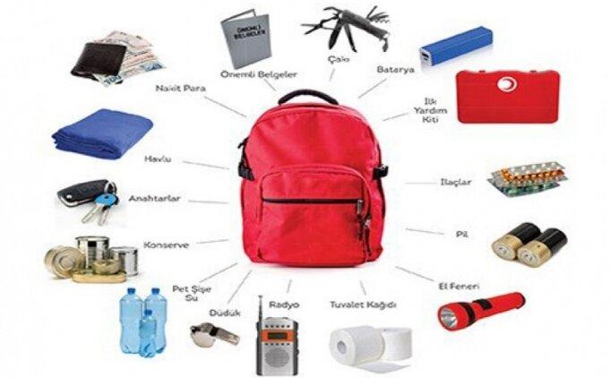 AFAD deprem çantası hazırlama, deprem çantasına neler konabilir?